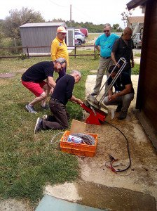 Préparation du lanceur de plateaux