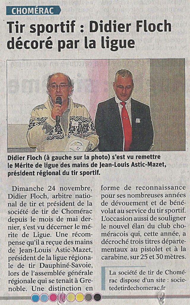 Article du Dauphiné Libéré du 27 Novembre 2019